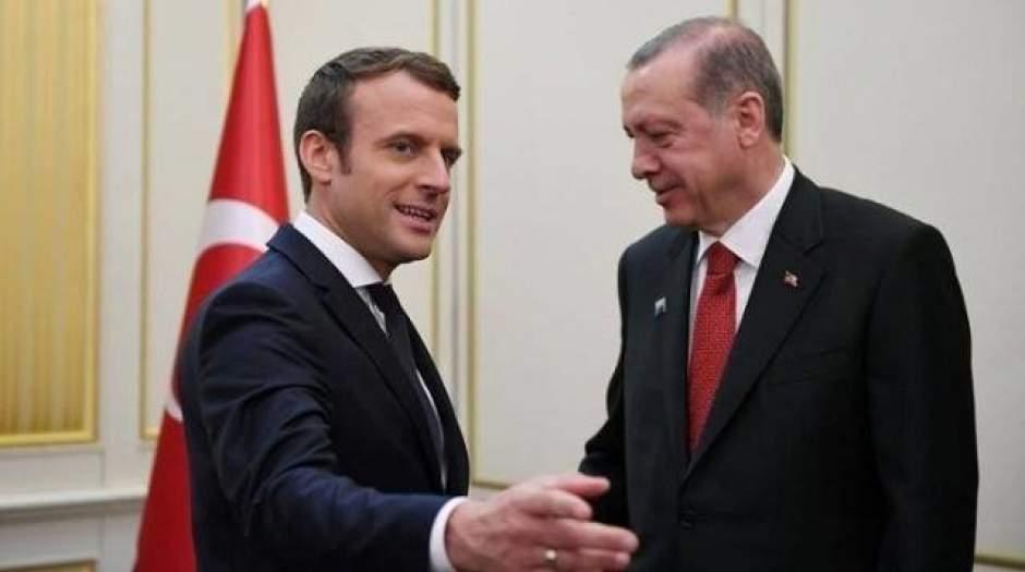 مذاکرات ماکرون با اردوغان